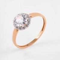 Золотое кольцо с фианитами РЫ1784641