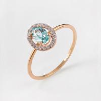 Золотое кольцо с ситалом и фианитами НЮ09562901010050061