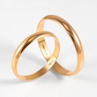 Золотое кольцо обручальное 2БК35К-25П