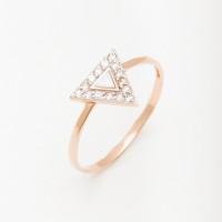 Золотое кольцо с фианитами РЫ1781241