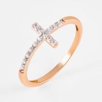 Золотое кольцо с фианитами РЫ1782141