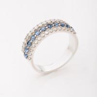 Серебряное кольцо с фианитами БХК-015