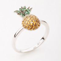 Серебряное кольцо с фианитами ВПК1КЛ