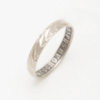 Серебряное кольцо обручальное 6В8-150