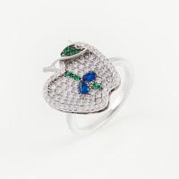 Серебряное кольцо с фианитами ВПК56КЛ