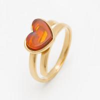 Серебряное кольцо с янтарем 5УР9169ЗК