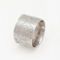 Серебряное кольцо обручальное АМГ-150-04-4-18-032-1