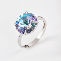 Серебряное кольцо с кристаллами сваровски Ф1К002пВЛ