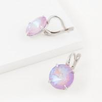 Серебряные серьги с кристаллами сваровски Ф1С002пЛ144Д женские
