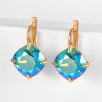 Серебряные серьги с кристаллами сваровски Ф1С017з360СХИМ