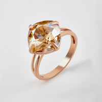 Серебряное кольцо с кристаллами сваровски Ф1К017зГСХА