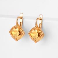 Серебряные серьги с кристаллами swarovski Ф1С017зГСХА