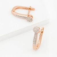 Золотые серьги с бриллиантами ХС051060521
