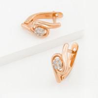Золотые серьги с бриллиантами ХС051082421