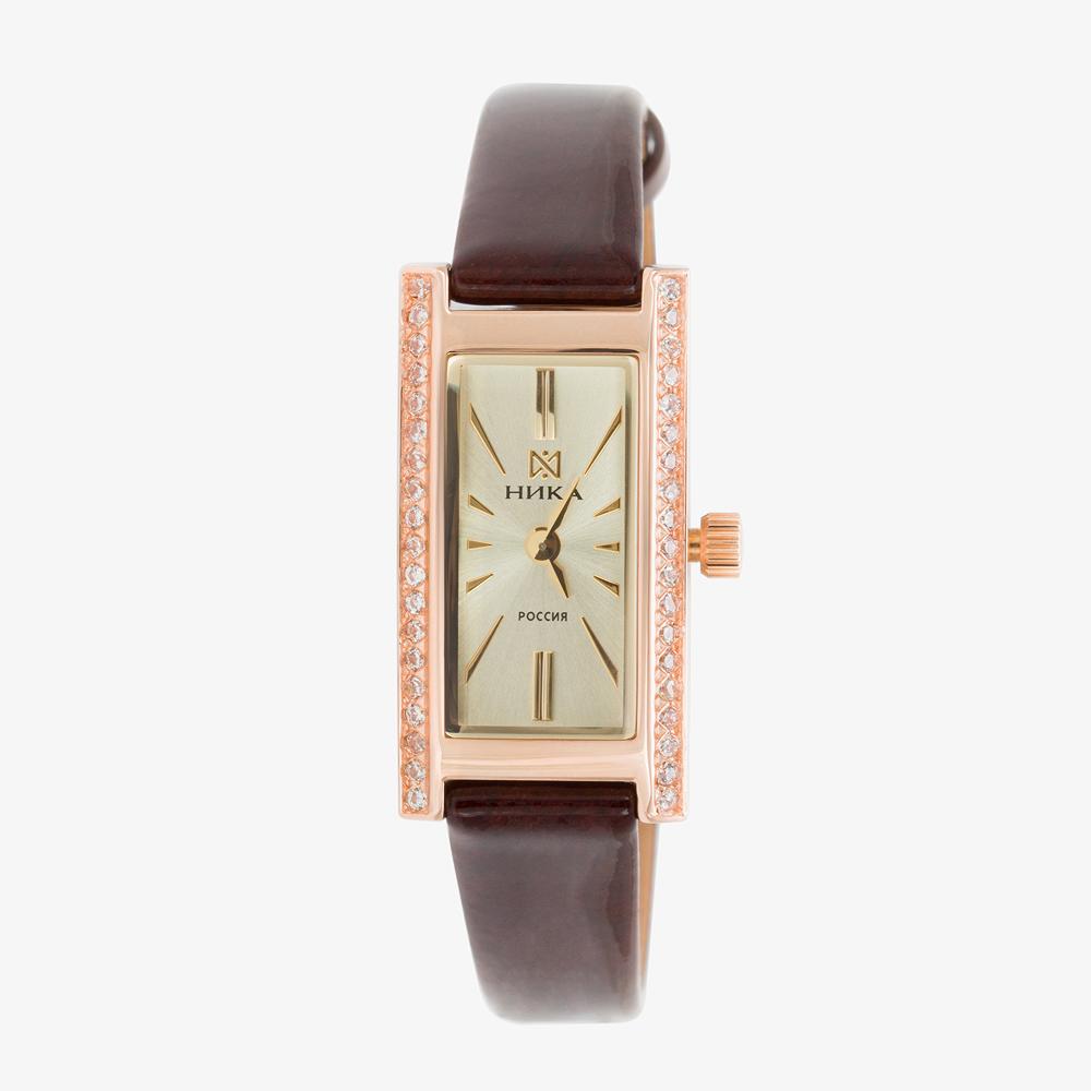 Золотые часы с фианитами НИ0438.2.1.45H