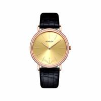 Золотые часы с фианитами
