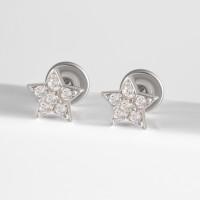 Серебряные серьги гвоздики с фианитами ЗК6101020-00775