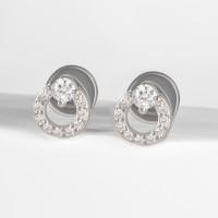 Серебряные серьги гвоздики с фианитами ЗК6001152-00775