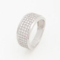 Серебряное кольцо с фианитами БХК-03