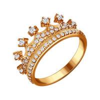 Серебряное кольцо с фианитами ДИ93010368