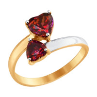 Золотое кольцо с Swarovski ДИ81010336