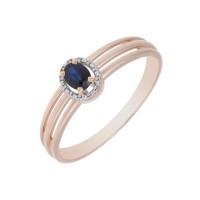 Золотое кольцо с сапфиром ЛХ1-1140спк