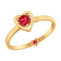 Золотое кольцо с фианитами ДИ017531