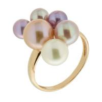 Золотое кольцо с жемчугом ЮИК140-2858М9