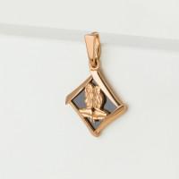 Золотой знак зодиака «близнецы» с фианитом АБ320125103