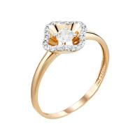 Золотое кольцо с сваровски и фианитами ЮИК132-4533Св