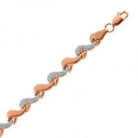 Золотой браслет с фианитами СН0430-7175