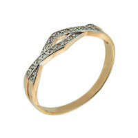 Золотое кольцо с бриллиантами ЮЫ2002100020163