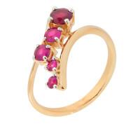 Золотое кольцо с рубинами ЮЫ2002600022785