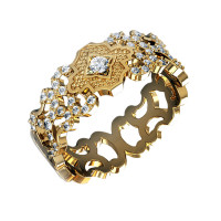 Золотое кольцо обручальное с бриллиантами КАКО-ОКБ258ГЖ
