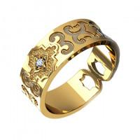 Золотое кольцо обручальное с бриллиантом КАКО-ОКБ258ГМ