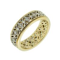 Золотое кольцо обручальное с бриллиантами КАКО-ОКБ146ГЖ