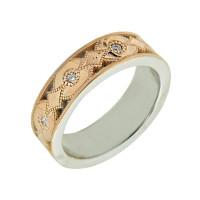 Золотое кольцо обручальное с бриллиантами КАСТ-ОК10ГЖ