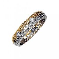 Золотое кольцо обручальное с бриллиантами КАКО-ОКБ270ГЖ