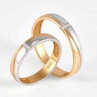 Золотое кольцо обручальное с бриллиантами ВБ7004-151-00-00