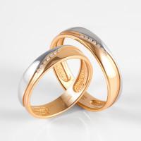 Золотое кольцо обручальное с бриллиантами ВБ7012-151-00-00