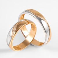 Золотое кольцо обручальное с бриллиантами ВБ7009-151-00-00