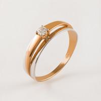 Золотое кольцо с фианитами СН01-114500