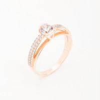 Золотое кольцо с фианитами СН01-114478