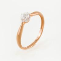 Золотое кольцо с фианитами СН01-114476