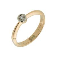 Золотое кольцо с бриллиантом КТЗК-90611