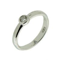 Кольцо из белого золота с бриллиантом Якутия