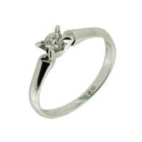 Золотое кольцо с бриллиантом КТЗК-90227