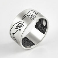 Серебряное кольцо с эмалью ЗК0101601-00245