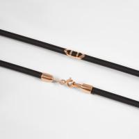 Каучуковый шнурок с золотой вставкой НР6032-4к