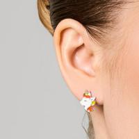 Серебряные серьги детские с эмалью ЫА21135-2
